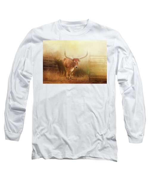 Watusi In The Dust And Golden Light Long Sleeve T-Shirt