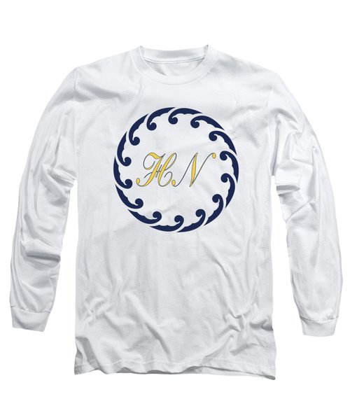 Long Sleeve T-Shirt featuring the digital art Wave Ring And Yellow Cipher by Helga Novelli