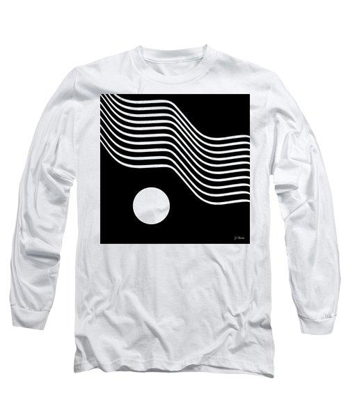 Waved Abstract Long Sleeve T-Shirt by Joe Bonita