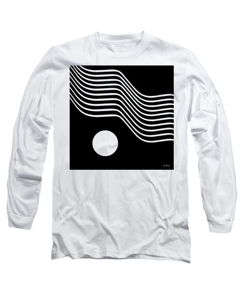 Waved Abstract Long Sleeve T-Shirt