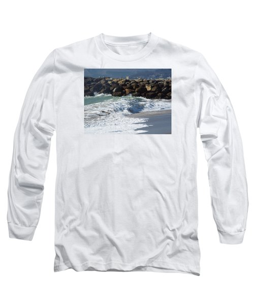 Waves Against Breakwater Long Sleeve T-Shirt