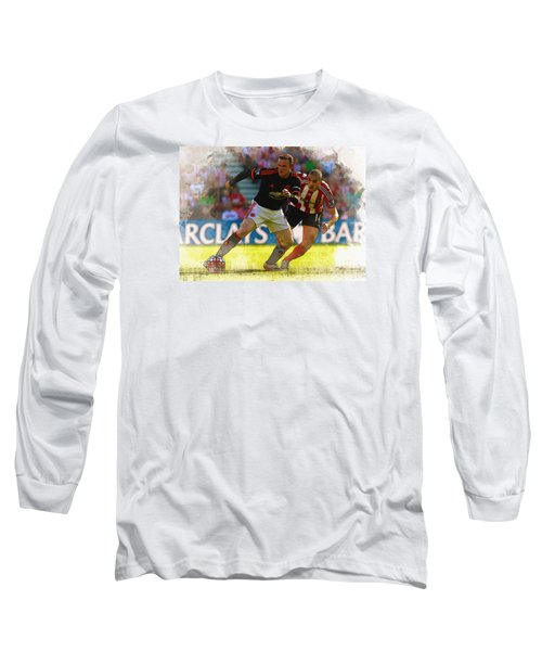 Wayne Rooney Is Marshalled Long Sleeve T-Shirt by Don Kuing
