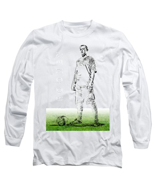 Wayne Rooney Long Sleeve T-Shirt by ISAW Gallery