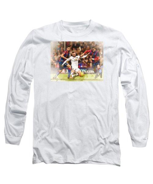 Wayne Rooney Shoots At Goal Long Sleeve T-Shirt