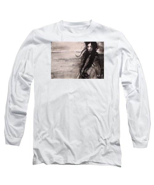 Long Sleeve T-Shirt featuring the painting We Dreamed Our Dreams by Jarmo Korhonen aka Jarko