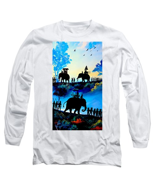 We March At Sunrise  Long Sleeve T-Shirt by Ian Gledhill
