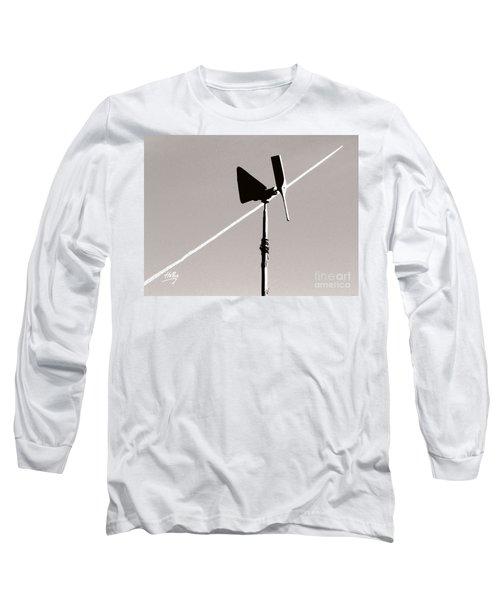 Weather Vane Long Sleeve T-Shirt by Linda Hollis