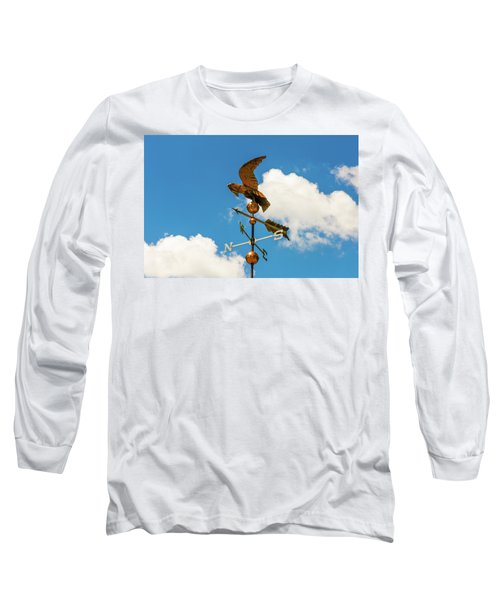 Weather Vane On Blue Sky Long Sleeve T-Shirt