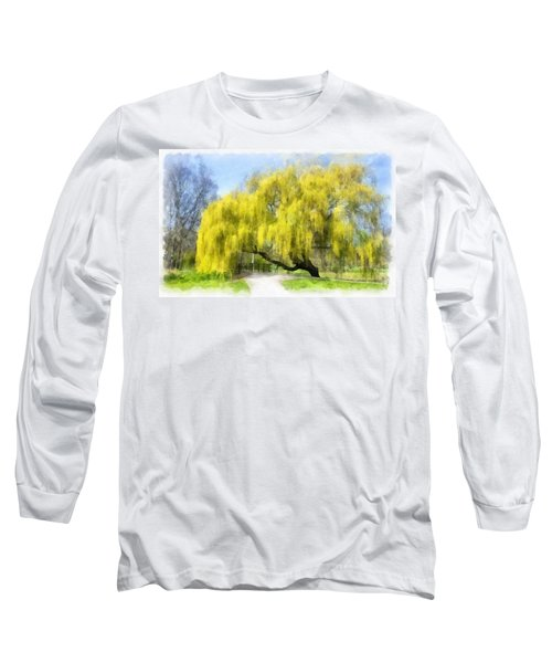Weeping Willow Aquarell Long Sleeve T-Shirt