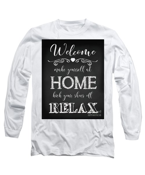 Long Sleeve T-Shirt featuring the digital art Welcome Home-a by Jean Plout