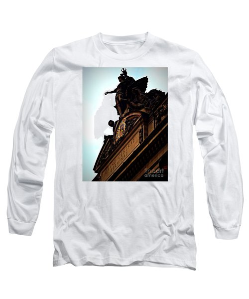 Welcome To Grand Central Long Sleeve T-Shirt by James Aiken