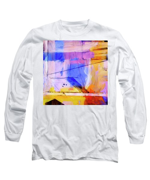 Long Sleeve T-Shirt featuring the painting Welder by Dominic Piperata
