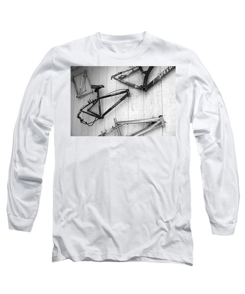 Well Worn Mountain Bike Frames  Long Sleeve T-Shirt