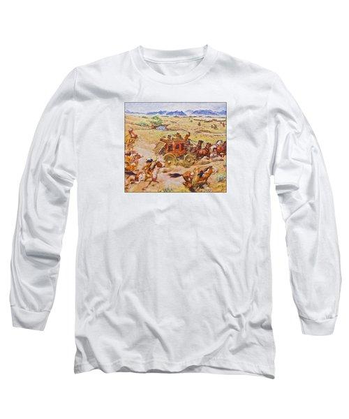 Wells Fargo Express Old Western Long Sleeve T-Shirt by Susan Leggett