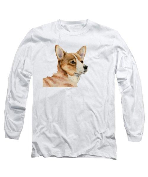 Welsh Corgi Dog Painting Long Sleeve T-Shirt