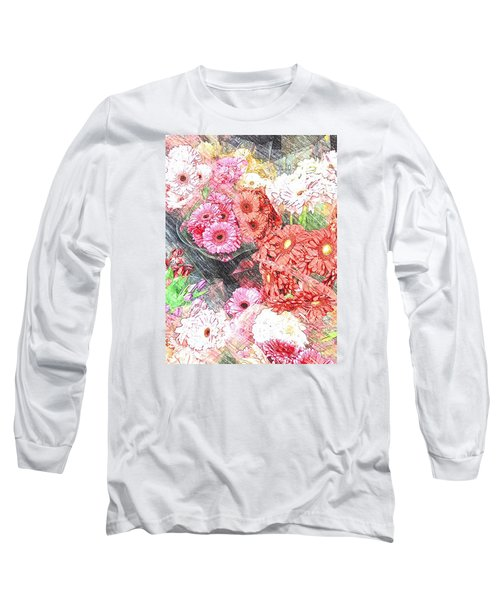 Wendy's Flowers Long Sleeve T-Shirt by Jan Amiss Photography