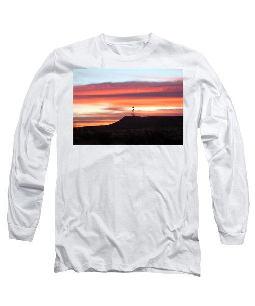 Mile Marker 122 West Texas Sunrise Long Sleeve T-Shirt