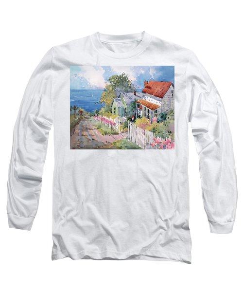 Westport By The Sea Long Sleeve T-Shirt by Joyce Hicks
