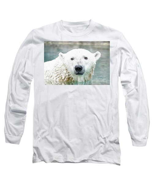 Wet Polar Bear Long Sleeve T-Shirt