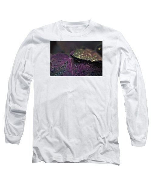 Wet Purple Leaves Long Sleeve T-Shirt