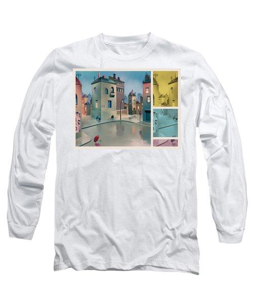 Wet Town Long Sleeve T-Shirt