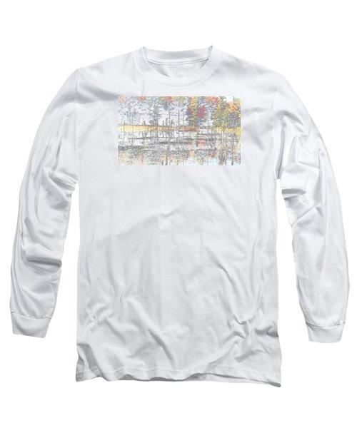 Wetland Reflections Abstract Long Sleeve T-Shirt