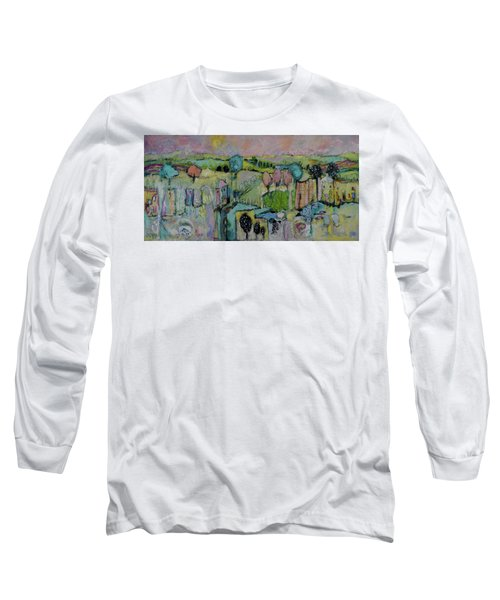What A Bird Sees Long Sleeve T-Shirt by Sharon Furner