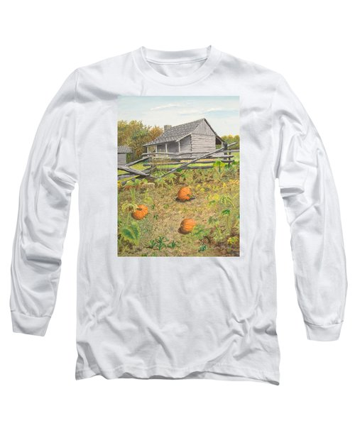 What's Left Of The Old Homestead Long Sleeve T-Shirt by Norm Starks