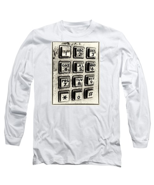 Long Sleeve T-Shirt featuring the photograph What's Your Number? by Caitlyn  Grasso