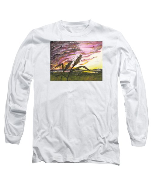 Wheat Field Long Sleeve T-Shirt by Darren Cannell