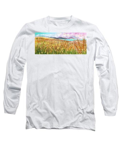 Wheat Landscape Long Sleeve T-Shirt