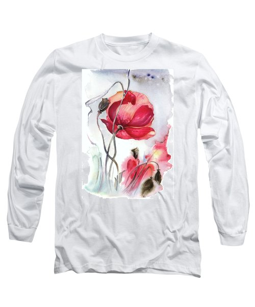 Long Sleeve T-Shirt featuring the painting When The Mists Fall Down by Anna Ewa Miarczynska