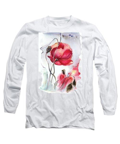 When The Mists Fall Down Long Sleeve T-Shirt by Anna Ewa Miarczynska