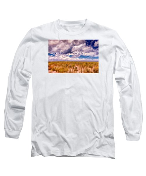 Long Sleeve T-Shirt featuring the photograph Where Land Meets Sky by Gary Slawsky