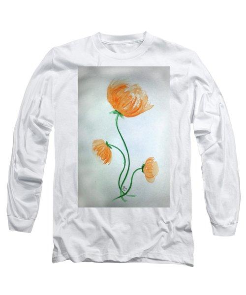 Whimsical Flowers Long Sleeve T-Shirt