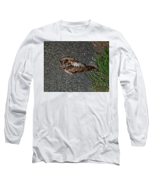 Whip-poor-will Long Sleeve T-Shirt by Nancy Landry