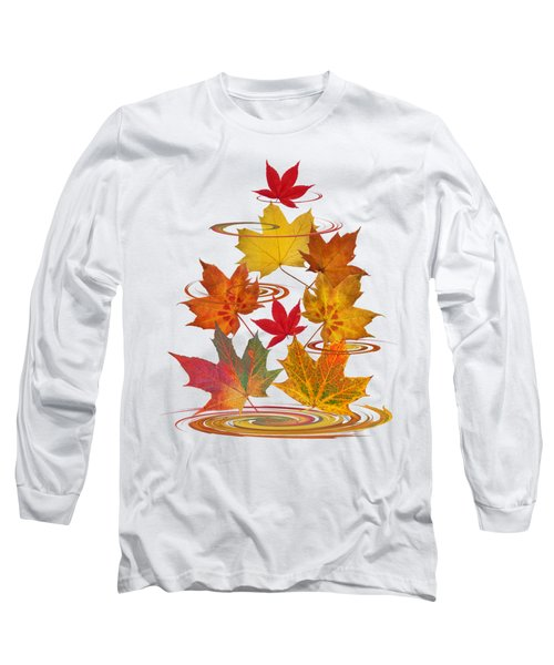Whirling Autumn Leaves Long Sleeve T-Shirt