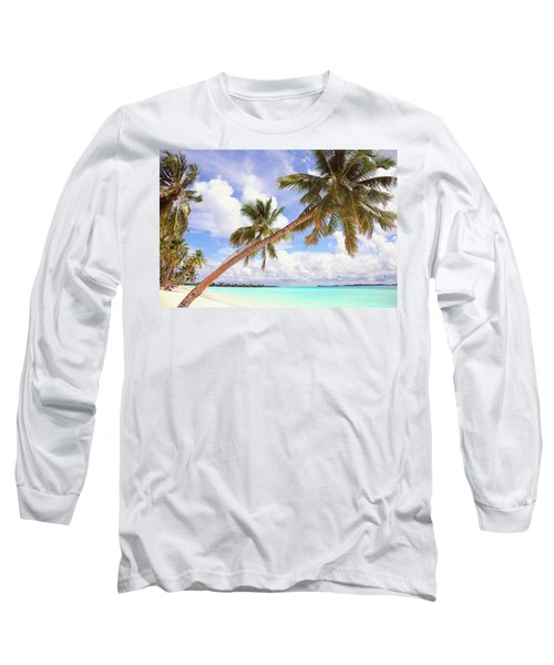 Whispering Palms. Maldives Long Sleeve T-Shirt