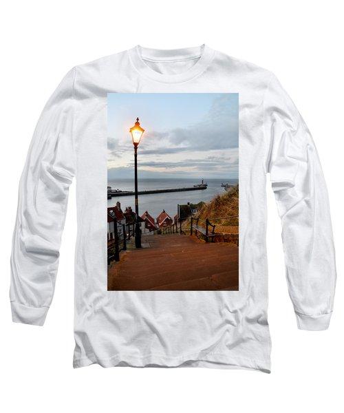 Whitby Steps Blue Hour Long Sleeve T-Shirt