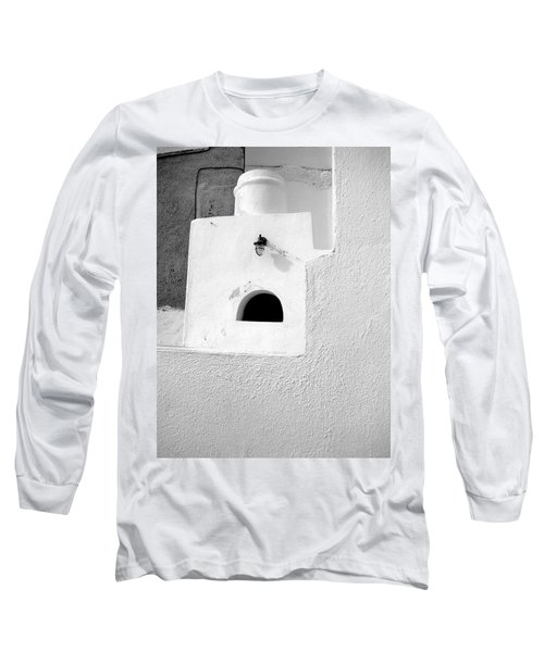 White Abstract Long Sleeve T-Shirt by Ana Maria Edulescu