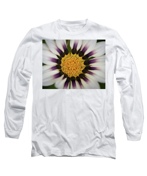 White And Purple Zinnia With Yellow Long Sleeve T-Shirt