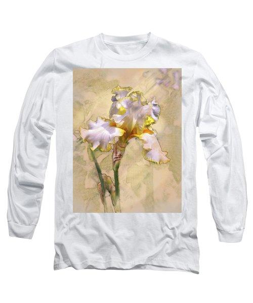 White And Yellow Iris Long Sleeve T-Shirt