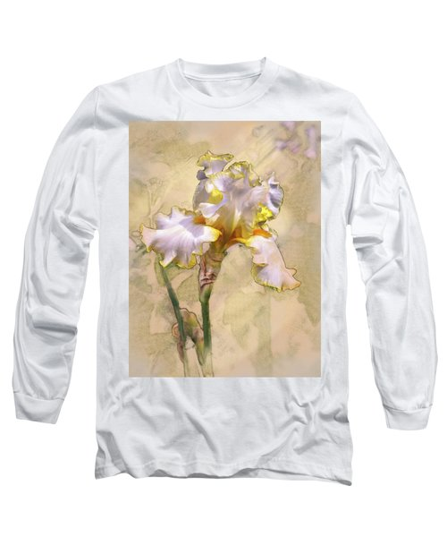 White And Yellow Iris Long Sleeve T-Shirt