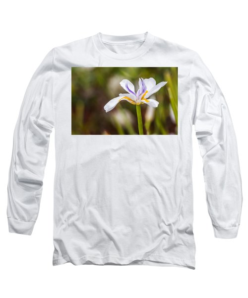 White Beardless Iris Long Sleeve T-Shirt