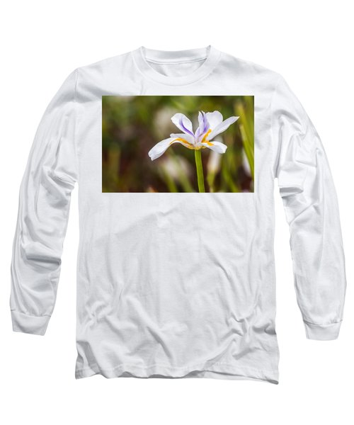 White Beardless Iris Long Sleeve T-Shirt