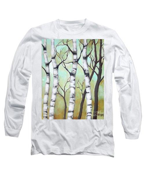 White Birch Long Sleeve T-Shirt