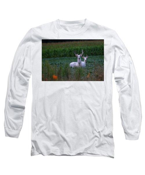 White Bucks Long Sleeve T-Shirt
