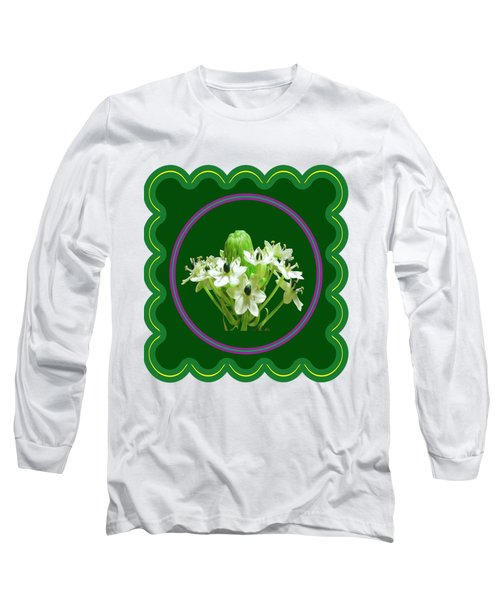 White Bunch Bud Flower Floral Posters Photography And Graphic Fusion Art Navinjoshi Fineartamerica P Long Sleeve T-Shirt