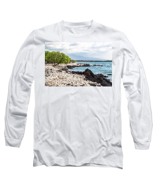 White Coral Coast Long Sleeve T-Shirt