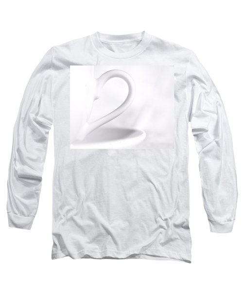 White Cup And Saucer Long Sleeve T-Shirt